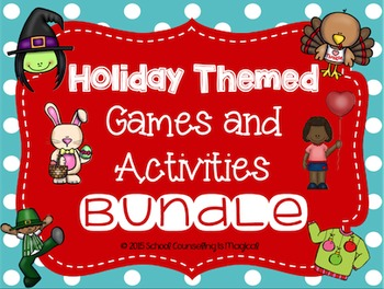 Holiday Themed Counseling Games and Activities Mega Bundle