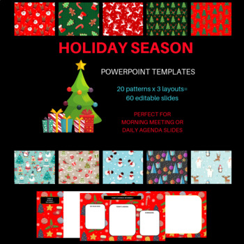 Christmas Holiday Themed Daily Powerpoint Templates By Smart