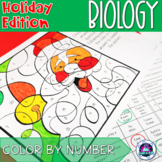 Holiday Themed General Biology Color-by-Number Activity