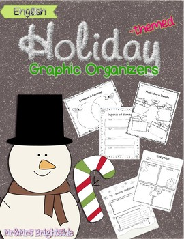 Holiday Themed Graphic Organizers in English - Spanish