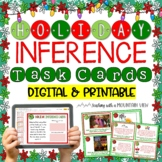 Holiday Themed Inference Task Cards { Pictures and Text } Winter and Christmas