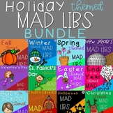 Holiday Themed Mad Libs - Nouns, Verbs, and Adjectives - BUNDLE!