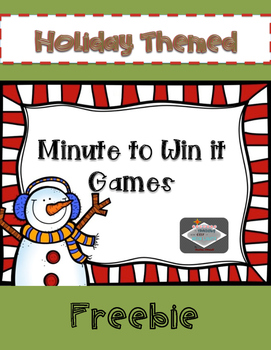 Holiday Themed Minute to Win it Games