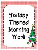 Christmas Themed Morning Work