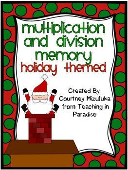 Holiday Themed Multiplication and Division Memory