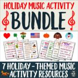 Holiday-Themed Music Activity BUNDLE