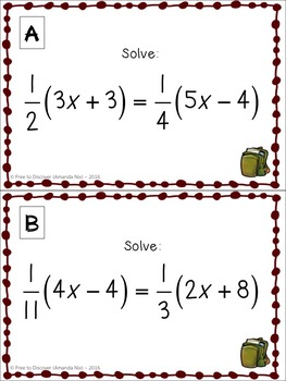 Holiday-Themed Partner Stations Bundle (8th Grade & Algebra 1)