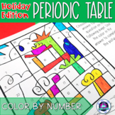 Holiday Themed Periodic Table Color-by-Number Activity