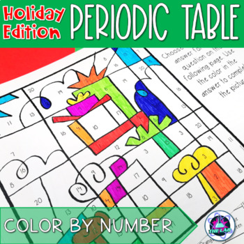 Holiday themed periodic table color by number activity by the lab holiday themed periodic table color by number activity urtaz Choice Image
