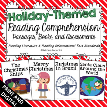 Holiday Themed Reading Comprehension Passages, Printable Books, and Assessments