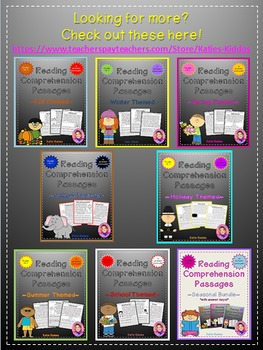 Holiday Themed Reading Passages *JUST PRINT & TEACH!*