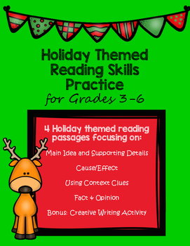 Holiday Themed Reading Skill Practice
