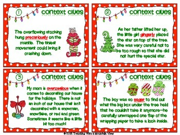Holiday Reading Task Cards