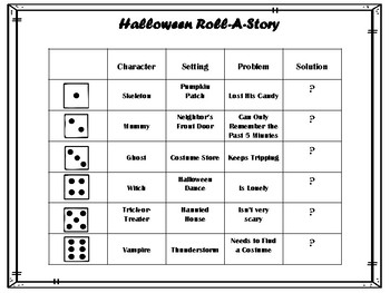 Holiday/Themed Roll-A-Stories