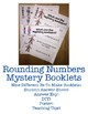 Holiday Themed Rounding Numbers Mystery Booklets: 9 Different Booklets!