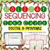 Holiday Sequencing Task Cards  { Winter and Christmas }
