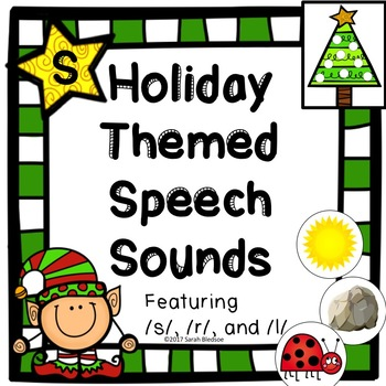 Holiday Themed Speech Sounds - Say and Cover