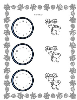 Holiday Themed Time Worksheets