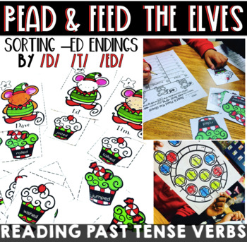 Sorting the Sounds of -ed ~ Reading Past Tense Verbs {Holiday Themed}