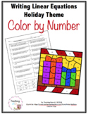 Writing Linear Equations Color by Code Activity - Distance Learning