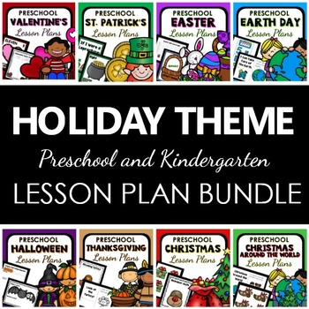 Holiday Themes Preschool Lesson Plan Bundle