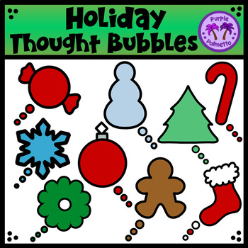 Holiday Thought Bubbles Clipart