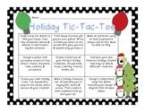 Holiday Tic Tac Toe Choice Board