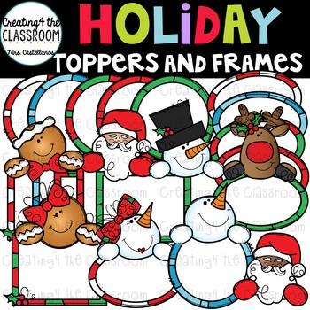 Holiday Toppers and Frames {Christmas Clip Art}