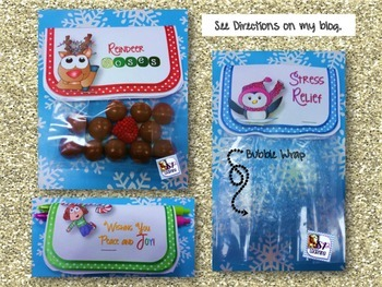 Holiday Toppers for Staff and Teacher Gifts