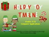Holiday Toy Timeline