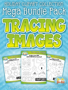 Holiday Tracing Images Clipart Mega Bundle {Zip-A-Dee-Doo-Dah Designs}