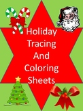 Christmas Tracing and Coloring