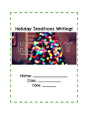 Holiday Tradition Sensory Writing Student Handouts