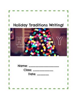 Holiday Tradition Sensory Writing Student Handouts