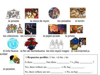 Holiday Religious Christmas Vocabulary Activities Spanish