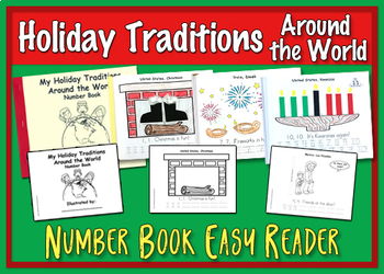 Holiday Traditions Around the World - Number Book Easy Reader
