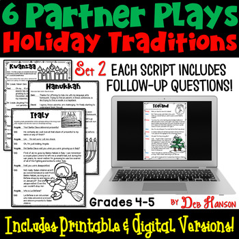 Holiday Traditions Around the World Partner Plays: Set 2 (4th and 5th grade)