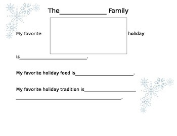 Holiday Traditions Class Book