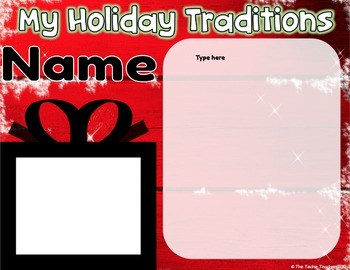 Holiday Traditions Collaborative Digital Book in Google Slides™