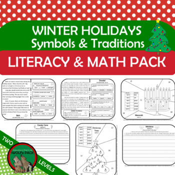 Holiday Symbols & Traditions Reading Passages Writing Prompts Math @ Two Levels