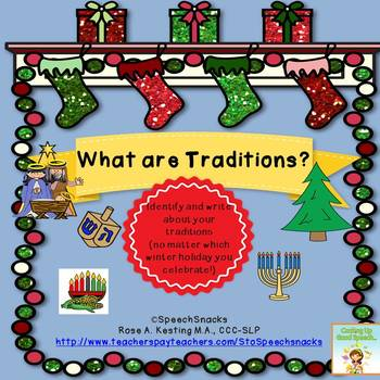 Holiday Traditions FREEBIE {for older students}
