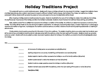 Holiday Traditions Project