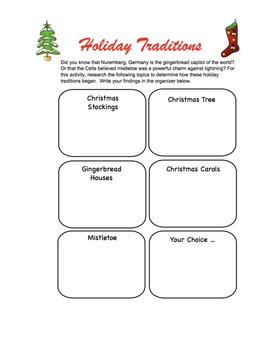 Holiday Traditions Research