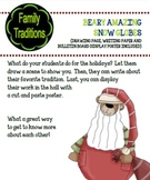 Holiday Traditions Snow Globes Craft and Writing