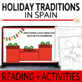Spanish Holidays Reading Activity La Navidad, Nochebuena,