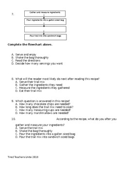 Holiday Trail Mix Functional Text and Questions