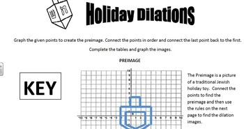 Holiday Transformations- Reflections, Rotations, Translations, and Dilations