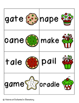 Holiday Treats Phonics: Long A Pack