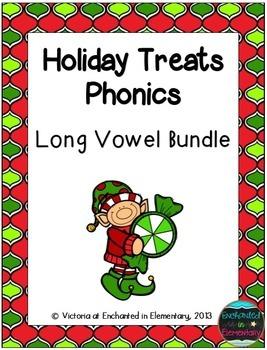 Holiday Treats Phonics: Long Vowel Bundle