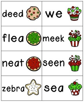 Holiday Treats Phonics: Long Vowel Bundle